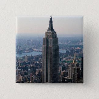 N.A., USA, New York, New York City. The Empire 15 Cm Square Badge