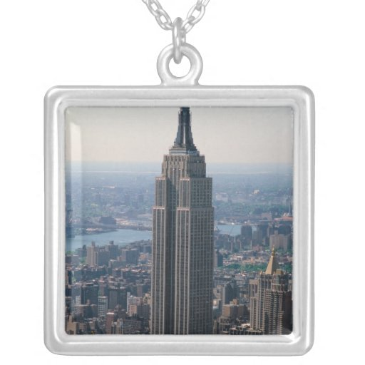 N.A., USA, New York, New York City. The Empire Square Pendant Necklace