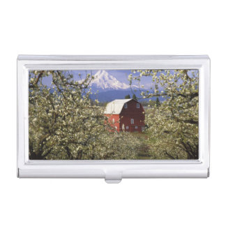 N.A., USA, Oregon, Hood River County. Red Business Card Holder