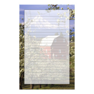 N.A., USA, Oregon, Hood River County. Red Customised Stationery