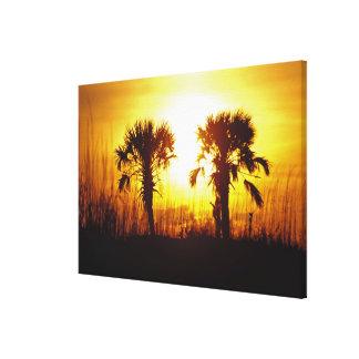N.A., USA, South Carolina, Charleston. Sunset Canvas Print
