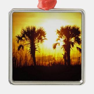 N.A., USA, South Carolina, Charleston. Sunset Christmas Ornament