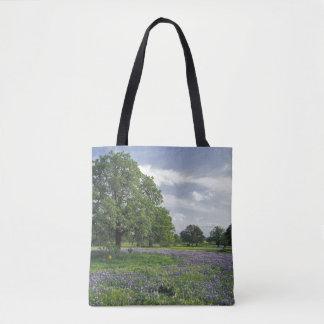 N.A, USA, Texas, Lake Buchanan, Oaks and Blue Tote Bag