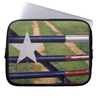 N.A., USA, Texas, Lake Buchanan, Texas flag Laptop Sleeve