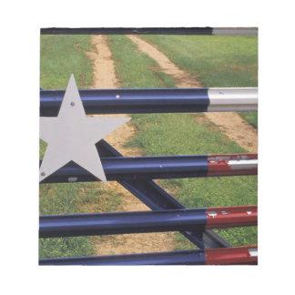 N.A., USA, Texas, Lake Buchanan, Texas flag Notepad