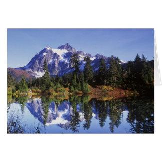 N.A., USA, Washington, Mt. Baker & Snoqualmie Greeting Card