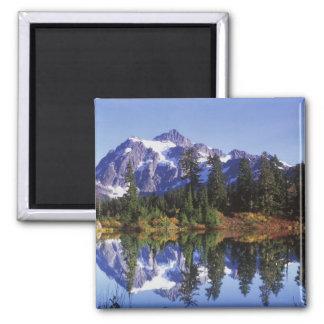 N.A., USA, Washington, Mt. Baker & Snoqualmie Magnet