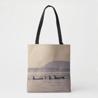N.A., USA, Washington, San Juan Islands Orca Tote Bag