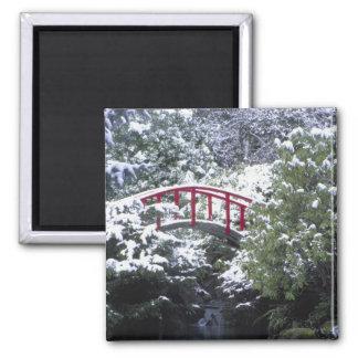 N.A., USA, Washington, Seattle. Moon bridge in 2 Magnet
