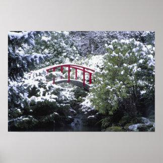 N.A., USA, Washington, Seattle. Moon bridge in 2 Posters