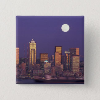 N.A., USA, Washington, Seattle Seattle skyline 15 Cm Square Badge