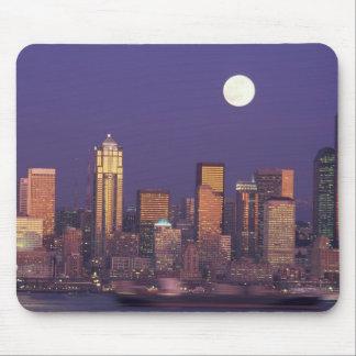 N.A., USA, Washington, Seattle Seattle skyline Mouse Pad