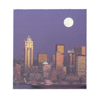 N.A., USA, Washington, Seattle Seattle skyline Notepad
