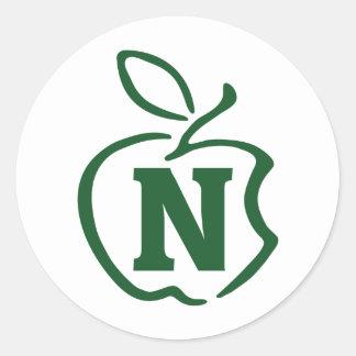 N-apple Round Sticker
