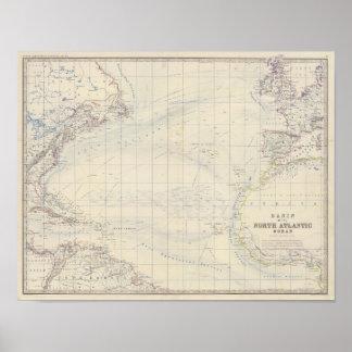 N Atlantic Ocean Poster