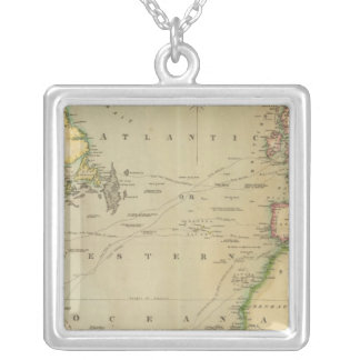 N Atlantic Ocean Silver Plated Necklace