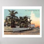 N. Beach St., Key West, Florida Vintage Poster