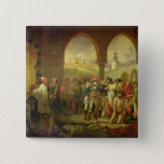 N. Bonaparte visiting the plague stricken of 15 Cm Square Badge