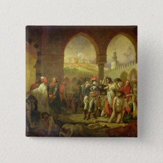 N. Bonaparte visiting the plague stricken of 15 Cm Square Badge