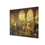 N. Bonaparte visiting the plague stricken of Canvas Print