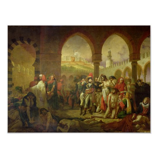 N. Bonaparte visiting the plague stricken of Poster