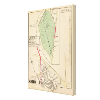 N Burial Ground and Woonsocket Company Atlas Map Canvas Print