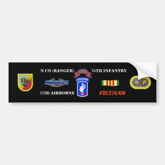 N COMPANY RANGER 173RD VIETNAM BUMBER STICKER CAR BUMPER STICKER