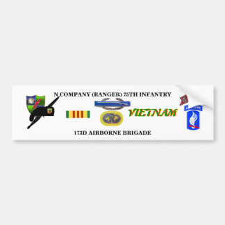 N COMPANY RANGER VIETNAM BUMBER STICKER CAR BUMPER STICKER