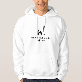 n factorial hooded pullover