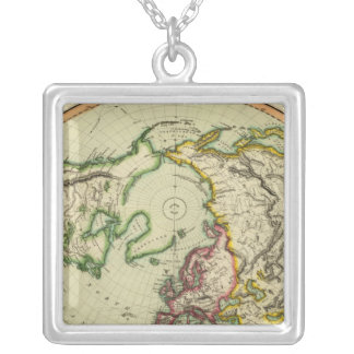 N Hemisphere, plane of London Silver Plated Necklace