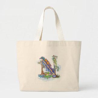N, initial, monogram, wedding jumbo tote bag