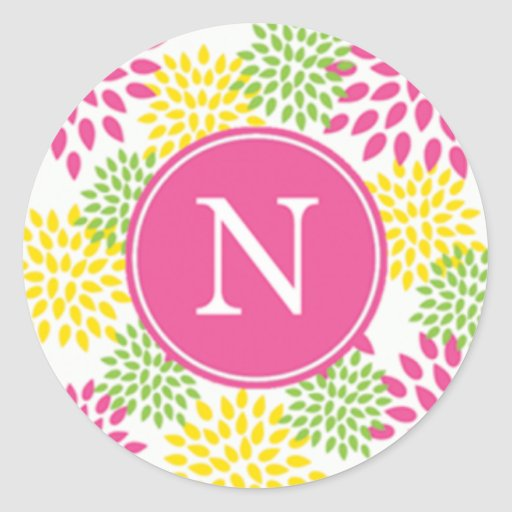 """""""N"""" Initial Party Sticker Sheet"""