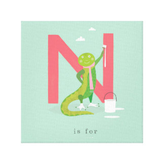 N is for... canvas print
