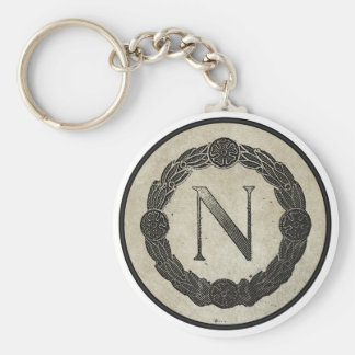 N is for....... basic round button key ring
