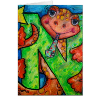 N is for Newt Greeting Cards
