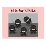 """N"" is for Ninja Alphabet Flashcard Postcards"
