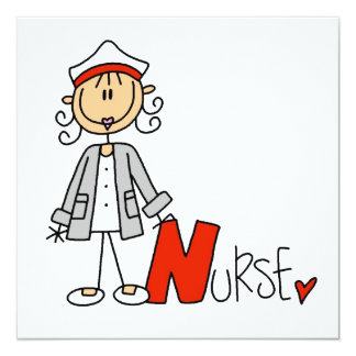 N is for Nurse 13 Cm X 13 Cm Square Invitation Card