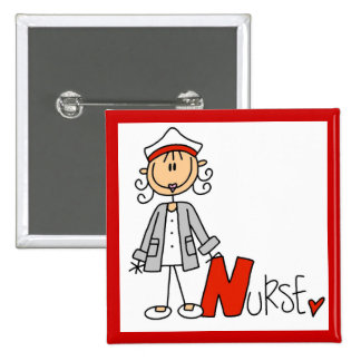 N is for Nurse 15 Cm Square Badge