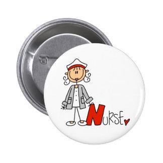 N is for Nurse 6 Cm Round Badge