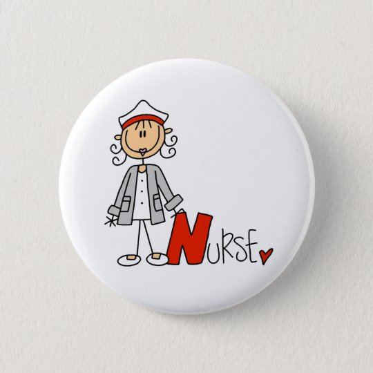 N is for Nurse 6 Cm Round Badge
