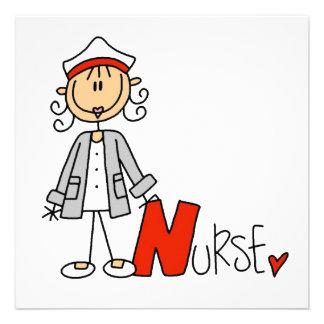 N is for Nurse Custom Invitations