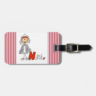 N is for Nurse Luggage Tag
