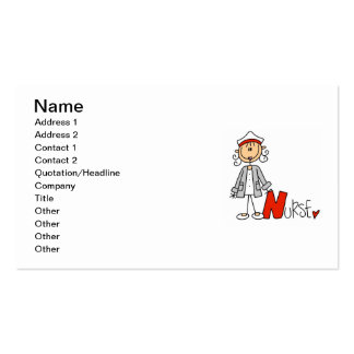 N is for Nurse Pack Of Standard Business Cards