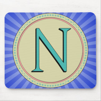 N MONOGRAM LETTER MOUSE PADS