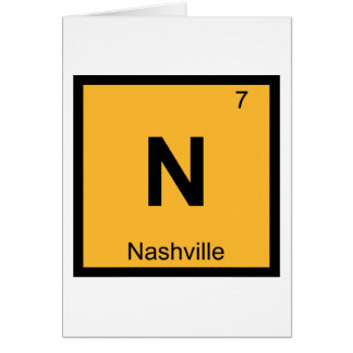 N - Nashville Tennessee Chemistry Periodic Table Cards