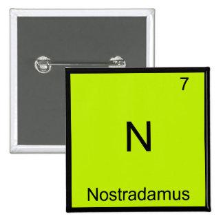 N - Nostradamus Funny Chemistry Element Symbol Tee Button