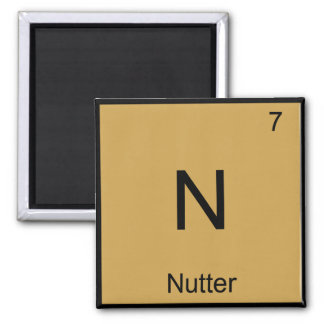 N - Nutter Chemistry Element Symbol British Slang Refrigerator Magnet