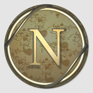 n round sticker