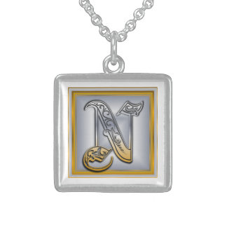 N Royal Initial Monogram Necklace Necklace