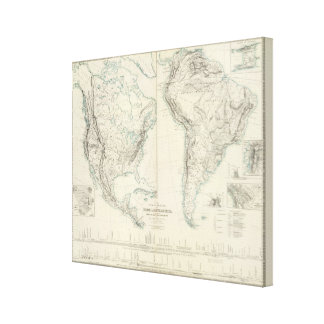 N & S America physical Canvas Print
